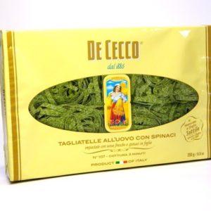 Паста Тальятелле со шпинатом №107 DE CECCO 250гр